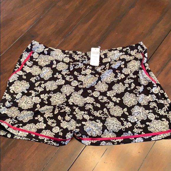 36c918deb0 Satin Trimmed Pajama Shorts Elegant Lace Black. NWT. Soma